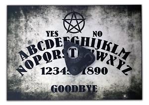 A4 Wooden Pentagram Ouija Board & Planchette, Pagan Wicca, Spritiual, Ghost Hunt
