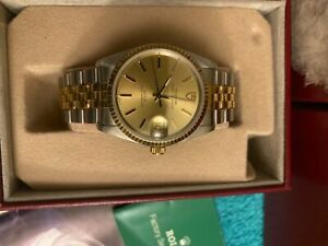 Most Beautiful ROLEX model TUDOR PRINCE Oyster Date New 18 k Gold & s/steel/Box/