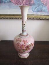 Antique Royal Worcester England Porcelain Handpainted Bud Vase 1661 Flower Gold