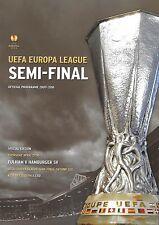 2010 UEFA Europe League semi-final programmes > Fulham V Hamburger SV avr. 2010