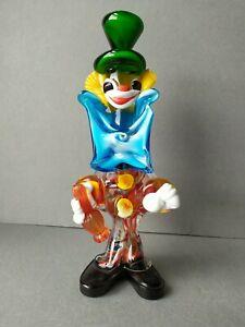 Murano Glass Multi Coloured Clown