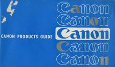 Canon products guide.
