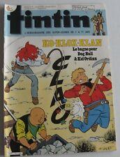 JOURNAL TINTIN N°513 CHICK BILL KO KLOX KLAN IVOR  RIC HOCHET TOUNGA 1985