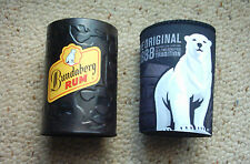 BUNDABERG RUM STUBBY HOLDERS  x 2 OFF , NEW ,GREAT FOR THE MAN CAVE