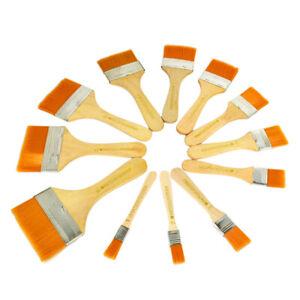 12Pcs Artist Paint Brush Set Nylon Hair Watercolor Acrylic Oil Painting Supplies