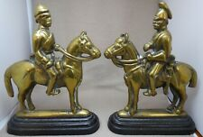 Two Brass and Cast Iron Mounted Soldier Doorstops