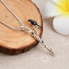 Charming Women Jewelry Long Chain Pendant Necklace Bird Branch Pattern