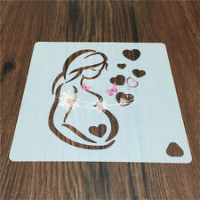 2 Pcs Packed Love Mum Cookie Cake Stencil Decorate Mold Fondant Biscuit Tool