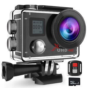Campark ACT76 4K ActionKamera  Sport WLAN FHD Dual LCD Fernbedienung Wasserdicht