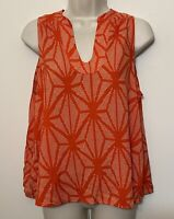 Maeve Anthropologie Size 6 Tank Top Red & White Wide Strap V-Neck Relaxed Fit