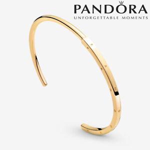 2021 New Authentic PANDORA Classic Series I-D Gold Plate Bracelet Size 16-19cm