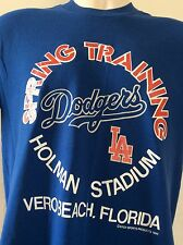 Vtg 1986 Los Angeles Dodgers Spring Training T-Shirt Blue M 80s 50/50 L.A. MLB