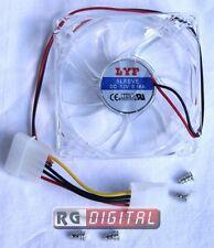Ventola Trasparente Plexiglass Attacco Molex Linq Case 8x8x2.5cm Modding TM8025