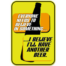 """Belive in Beer Funny Adult Alcohol car bumper sticker decal 5"""" x 4"""""""