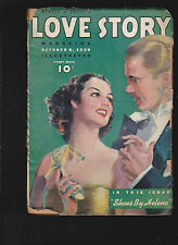 Street & Smith's Love Story Pulp October 8 1938 Ruth Lyons, Earl Wilson