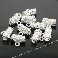 50pcs Lots Silver Tone European Beads Findings Fit Charms Bracelet On Sale L