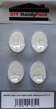 Clear Oval Hooks Self Adhesive