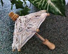 Dolls lace umbrella handmade in Brugge.