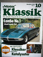 Motor Klassik Magazin Oktober 10 / 1991 Lambo No.1