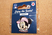 Los Angeles Angels of Anaheim Minnie Mouse portrait on ball lapel pin Disney MLB