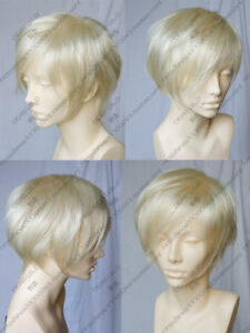 Fashion New Short Platinum-Blonde Cosplay Party Wig