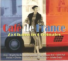 CAFE DE FRANCE 75 CHANSONS ORIGINALES - CD BOX SET - SIDONIE & MORE