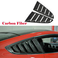 For 15-17 Ford Mustang Rear Side Window Air Intake Louver Vent Kits Carbon Fiber