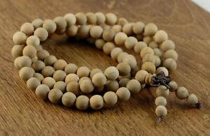 6mm 108PCS Natural Aromatic Indian Sandalwood Mala Beads Round (90182442-391)