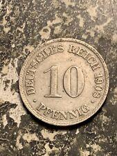 1908-D Germany 10 Pfennig  Lot#Q9310