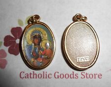 Our Lady of Czestochowa - Italian 1 inch Gold Tone and Enameled - Medal