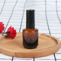 15ml empty nail polish bottle brown glass with brush to fill manicure tools_hc