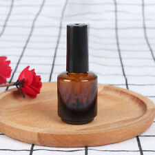 15ml empty nail polish bottle brown glass with brush to fill manicure tools-K_ns