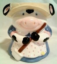TREASURE CRAFT CERAMIC  WOMEN COW CUP MUG
