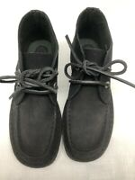 GH Bass Women's Black Leather Chukka Boots Lace Up Size 5.5M