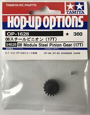 Tamiya 54628 08 Module Steel Pinion Gear (17T) (DT-02/DT02/DT-03/DT03) NIP
