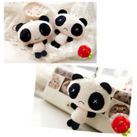 Panda Doll Plush Stuffed Key Decor Gift Pendant Toys Wedding Bouquet Decor