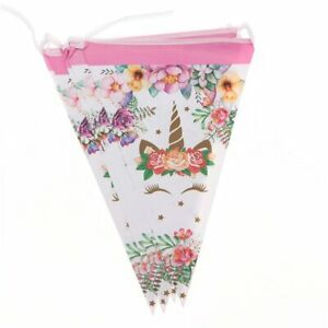 All Themed Birthday Bunting Cartoons Kids Birthday Party Flag Banner Decoration