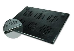 SPYKER - Ventilateur plateau USB avec hub 4 ports USB 2.0