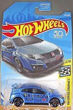 2018 Hot Wheels #245 HW Speed Graphics 2/10 '16 HONDA CIVIC TYPE R Blue w/Pr5 sp