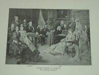 1911 Composer Wilhelm RICHARD WAGNER AT BAYREUTH Franz Liszt at piano Print