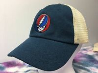 Grateful Dead Steal Your Face Hemp Washed Soft Mesh Trucker Cap Embroidered