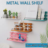 Wall Mount Shelf Wooden Storage Bookshelf Organizer Photo Display Home Shelves
