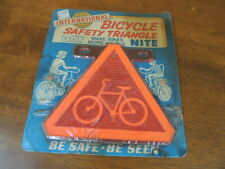 Vintage Bicycle Safety Triangle, NOS, Original Card, American Industries, 1960's