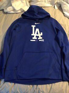 Brand New Los Angeles Dodgers Hoodie Pullover Sweatshirt Nike Size Large Blue