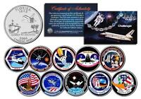 SPACE SHUTTLE CHALLENGER MISSIONS FL State Quarters 10-Coin Set NASA