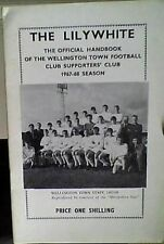 OFFICIAL SUPPORTERS CLUB 24 PAGE WELLINGTON TOWN 67-68 HANDBOOK