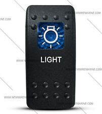 Labeled Contura II Rocker Switch COVER ONLY, Light (Blue Window)