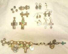 Inspirational Religious Spiritual Jewelry Lot-Earrings Pendants Bracelet 925