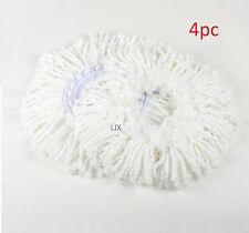 4pc  Replacement Microfibric Mop Head Refill 4 Hurricane Magic Mop 360° Spin