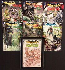 BATMAN TEENAGE MUTANT NINJA TURTLES #1-6 Comics +Original Art Sketch ERIC MULLER